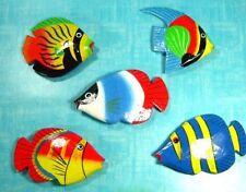 Streudeko / Dekofische 5 Stück je ca. 8 x 5 cm