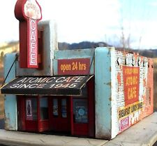 Downtown Deco N Scale Atomic Cafe Brand New Kit! Amazing graphics + bonus kit!