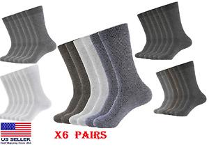 WANDER 6 PAIRS Men Crew Socks Moisture Breathable HIGH QUALITY Everyday Socks X6