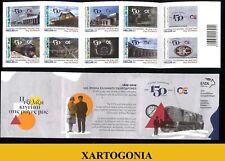 GREECE 2019, 150 YEARS GREEK TRAINS, STAMPS, FULL SET, ADHESIVE, MNH