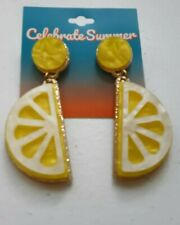 Celebrate Summer Collectible Earrings. Lemon Slices