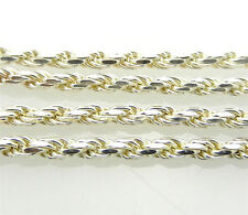 """NEW 925 Sterling Silver ROPE Chain Necklace 33.2 grams 30.5"""" long  ITALIAN"""