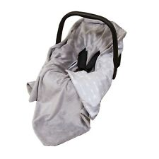 NEW COTTON & SOFT PLUSH BABY CAR SEAT WRAP / BLANKET - GREY/GREY + ARROWS