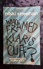 WHO FRAMED KLARIS CLIFF? by NIKKI SHEEHAN - OXFORD - P/B - UK POST £3.25*PROOF*