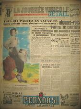 BALZAC & LE VIN COLETTE GEORGES DESSIN SCHOUPPE JOURNAL LA JOURNéE VINICOLE 1951