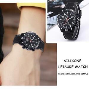 Men's Watch Sports Wrist Boys Army Silicon Strap  Quartz  Cheap  Hot Sale