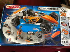 MECCANO MULTIMODELS 6550 RACING CAR WITH ELECTRIC MOTOR COMPLETE