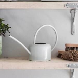Garden Trading 1.1L Indoor Watering Can in Chalk Galvanised Steel Indoor plants