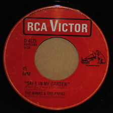 The Mama's + The Papa's Safe In My Garden / Too Late 1968 Rock 45 on RCA