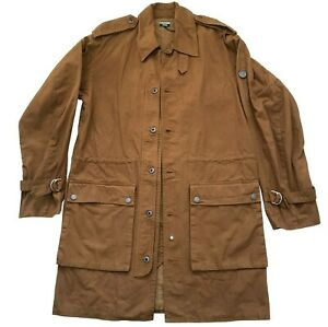 Paul Smith Sand Coloured Long Military Jacket  Size L
