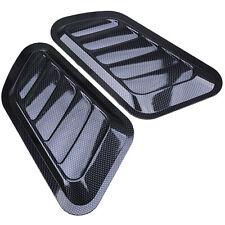 Car Decorative Air Flow Intake Scoop Bonnet Vent Cover Hood Carbon Fiber Look