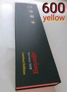 Rotring 600 Japan Limited Edition Color Yellow Mechanical Pencil 0.5mm Fedex New