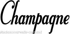 CHAMPAGNE WINE WORD DECAL KITCHEN WALL STICKERS HOME ART CUSTOM VINYL WORDING