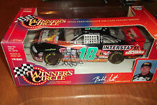 BOBBY LABONTE AUTOGRAPHED #18 INTERSTATE BATTERY  1:24 SCALE WINNERS CIRCLE (41)