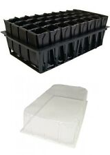 2 x Deep Root Trainer Trainers Seed Tray with Lid 32 Cell Rootrainer Roottrainer