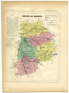 Antique Print-SEINE ET MARNE-MELUN-FONTAINEBLEAU-FRANCE-Brugere-Trousset-1877