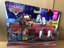 DISNEY CARS DIECAST - Mater With Allinol Cans & Edamame & Daisu Tsashimi - VHTF