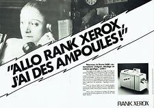 Publicité Advertising 107 1980  copieur Rank Xerox 5600 (2 pages)