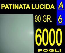 6000 FF A6 CARTA PATINATA LUCIDA STAMPANTI LASER VOLANTINI 90g