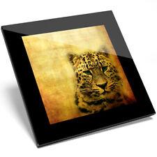 1 x Amazing Africa Wild Leopard Print Glass Coaster - Kitchen Student Gift #8241