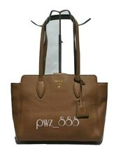 PRADA Vitello Phenix Tan Leather Shoulder Tote Bag