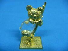 "Small Goldtone Koala Bear Figurine 1 1/2"" x 1"" x 2 3/4"" High"