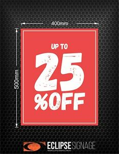 Promotional Sign UP TO 25% OFF (Poster)