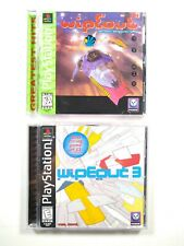 Wipeout & Wipeout 3 - Playstation PSX - Mint, Complete in Case