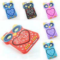 For Apple iPhone 5 5S Big 3D Cute Owl Silicone Soft Gel Jelly Skin Case Cover