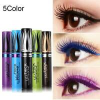 4D Silk Fiber Eyelash Mascara Extension Makeup Waterproof Eye Lashes 5 Color
