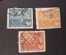 """POLONIA,POLAND,POLSKA 1921 """" Seminatrice"""" 3 V cpl set USED"""