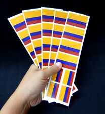 40 Reusable Stickers: Colombia Flag, Colombian Party Favors, Decals
