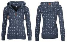 Damen Sweatjacke Shirt Kapuzenpullover Hochkragen Anker Sweater Zipper Hoodies