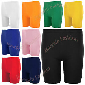 GIRL'S COTTON SHORTS IN ASSORTED COLOR STRETCHY QUALITY FOR SUMMER, SCHOOL/SPORT