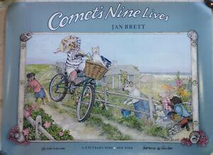 Jan Brett signed Comet's Nine Lives promotional Poster and letter