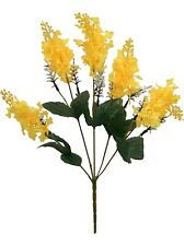 5 Lilac Blooms Yellow ~ Silk Wedding Flowers Bridal Bouquets Diy Centerpieces