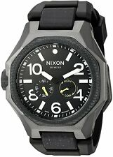 Nixon Men's A5051531 Tangent Sport Gunmetal Black Dial Watch A505-1531-00
