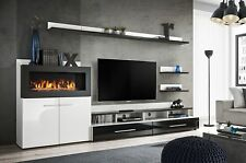Cedar - entertainment wall unit with fire place / entertainment center cabinet