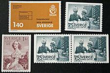 Timbre SUÈDE / Stamp SWEDEN Yvert et Tellier n°870 à 872 et 871b (cyn9)