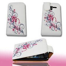 Design 2 Handy Flip Tasche Cover Case Hülle Etui für Samsung i8160 Galaxy Ace 2