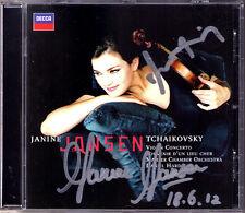 Janine Jansen & Daniel Harding firmato Tchaikovsky Brahms souvenir CD