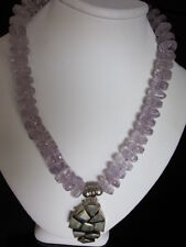 NEW Amethyst and Prehnite Pendant  Necklace
