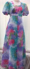 Chiffon Plus Size Maxi Vintage Dresses for Women