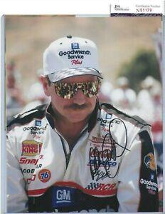 Dale Earnhardt Sr Autographed 8x10 Photo JSA COA Professional Nascar Race Driver