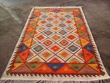 Hand-Woven Tribal 5x8 Anatolian Kilim Dhurrie Turkish Oriental Area Rug 150x240