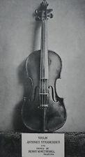 Violin Antonius Stradivarius 1708 Henry M Wetherill Philadelphia 1893 Page Photo