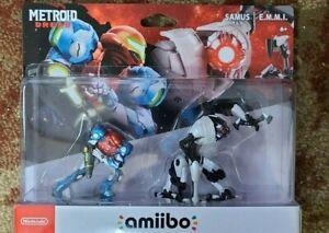 Brand New Metroid Dread Amiibo Figures Samus & E.M.M.I ships fast IN HAND
