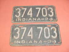 1934 license plates Indiana Ford Chevy Buick Dodge Plymouth Hemi Olds 34 Pontiac