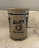 Westerwald Bethlehem Pennsylvania Salt Glazed Cobalt Pottery Crock Anniversary