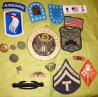 USA Military Army Badges Pins Buttons used and new WWII to current lot